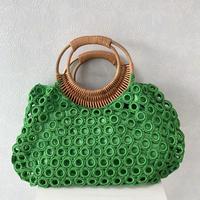 ベトナム製ハンドバッグ(グリーン)