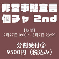 【分割購入②】非常事態宣言個チャ 2nd