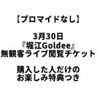 【プロマイドなし】3月30日『堀江Goldee』無観客ライブ閲覧チケット(購入した人だけのお楽しみ特典つき)