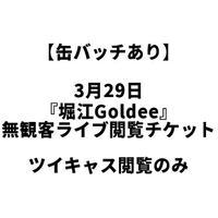 【缶バッチあり】3月29日『堀江Goldee』無観客ライブ閲覧チケット(ツイキャス閲覧のみ)