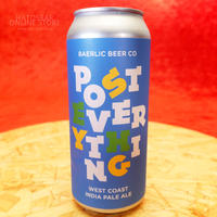 "CAN#114 『POST EVERYTHING』 ""ポーストエブリシング"" West Coast IPA/7.2%/473ml by BAERLIC Brewing."