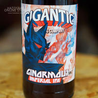 "BOTTLE#02 『GINORMOUS MK7』 ""ジャイノーマス マークセブン""  IMPERIAL IPA/8.8%/500ml by GIGANTIC Brewing."