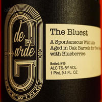 "BOTTLE#123 『The Bluest』 ""ザ ブルースト"" Spontaneous wild ale/7%/750ml by de Garde Brewing."