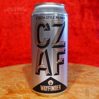 "CAN#142『CZ AF』""シーズィーエーエフ"" CZECH-STYLE PILSNER/4.9%/473ml by WAYFINDER Beer."