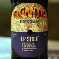 "BOTTLE#87『LP STOUT』 ""LPスタウト"" STOUT/5.7%/500ml by GIGANTIC Brewing."