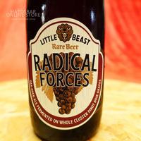 """BOTTLE#72『RADICAL FORCES』""""ラディカルフォーセズ""""  Oak-Aged ale/10.7%/375ml by LITTLE BEAST Brewing."""
