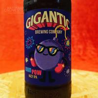 "BOTTLE#106『BOOM POW』 ""ブーンパウ"" HAZY IPA/7.5%/500ml by GIGANTIC Brewing."