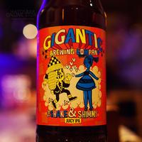 "BOTTLE#90『The Shake & Shimmy』 ""シェイクアンドシミー"" JUICY IPA/6.3%/500ml by GIGANTIC Brewing."