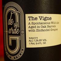 "BOTTLE#121 『The Vigne』 ""ザ ヴィーニュ"" Spontaneous wild ale/7.2%/750ml by de Garde Brewing."