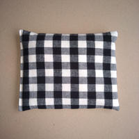 ぬかぽん Mサイズ 綿起毛 ちょっと大きめ白黒チェック(チェックの大きさ約15×15mm)
