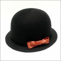 felt bowler hat(black)