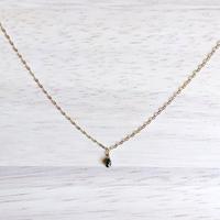 K10YG ブラックダイヤモンドのネックレス
