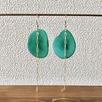 タグアとチェーンの耳飾り green