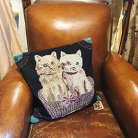 Nathalie Lete ナタリーレテ クッションカバー(Two kitties)