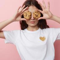 Keur paris   キュア パリ  刺繍Tシャツ Cookie