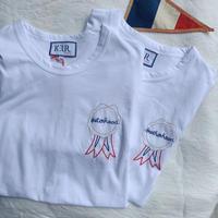 Keur paris  キュアパリ 刺繍Tシャツ  brotherhood/sisterhood