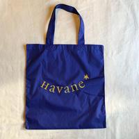 エコバッグ Sac écologique de Havane (パープルブルー×マスタード)