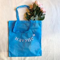 エコバッグ Sac écologique de Havane (サックスブルー×薄ピンク)