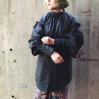 DECO depuis 1985 (デコ デュピュイ1985) レースカッティングドレスシャツ(black)