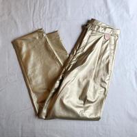 DECO depuis 1985 (デコ デュピュイ1985) フェイクレザーパンツ(gold)