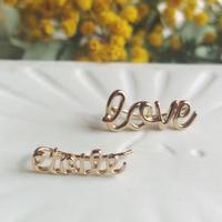 Nouvel Amour  ヌーベルアムール  片耳ロゴピアス(etoile) (love)
