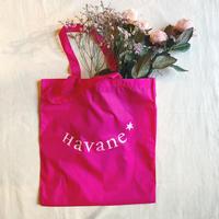 エコバッグ Sac écologique de Havane (フューシャピンク×薄ピンク)