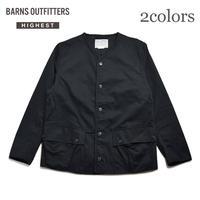 <BARNS HIEST> ノーカラーハンティングジャケット