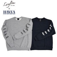 ※残り僅か【Leyline × HAVEA】Sleeve Print Sweat crew