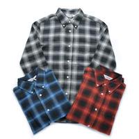 <FIVE BROTHER>ライトヴィエラ オンブレチェック BDシャツ