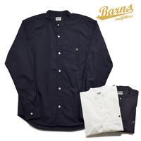 <BARNS> 100/2 ブロード バンドカラーシャツ