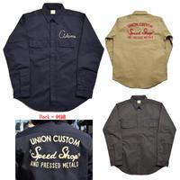 ※残りチャコールグレーのみ【BARNS】ヘビーツイル 刺繍ワークシャツ
