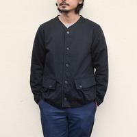 【残りブラック/Lのみ】 <BARNS HIEST> ノーカラーハンティングジャケット