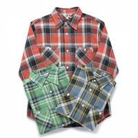 ※残りグリーン/Lのみ【FIVE BROTHER】ヘビーネルワークシャツ