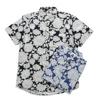 ※残りNAVYのみ!【Kennington】 flower shirts S\SL