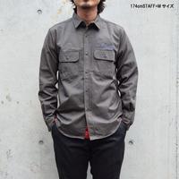 <BARNS> ヘビーツイル 刺繍ワークシャツ