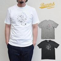 【吊り編み】プリントTシャツ「Tokyo Map / 東京マップ」