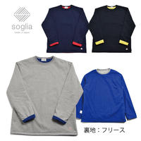【残りSサイズのみ】<Soglia> Fleece fact ※裏地フリース