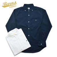 <BARNS> ワイドスプレッド Oxford BD シャツ