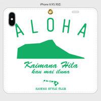 iPhone5~XS 各機種対応 手帳型ケース KAIMANA HILA