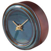 置き時計*GLAZED CLOCK mini MZ-02(青海鼠釉)