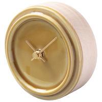 置き時計*GLAZED CLOCK mini MP-14(ペールイエロー)