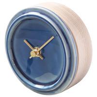 置き時計*TILE WOOD CLOCK WP-12(ペールブルー)