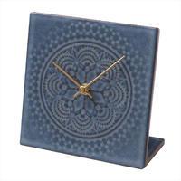 置き時計*LACE TILE CLOCK FOG-3RE(ブルー)