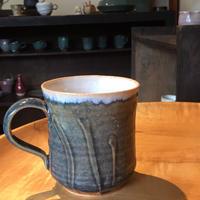 瑠璃釉マグカップ