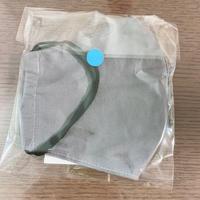 手作り布マスク-グレー-