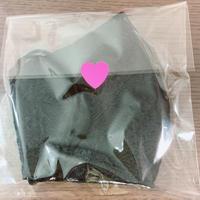手作り布マスク-黒衣装-