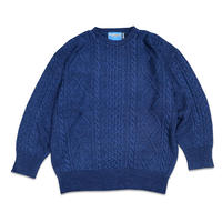 INDIGO FISHERMAN KN IT JUMPER(ONE WASH)