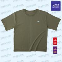 HR 刺繍TEE(ARMY GREEN)ビッグシルエット