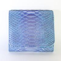 メタトロン宇宙財布/ドラゴン財布/パイソン二つ折り財布/MINI/ブルーシルバードラゴン×アクアブルー