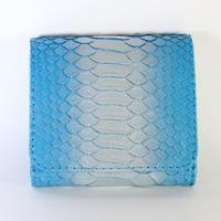 メタトロン宇宙財布/ドラゴン財布/パイソン二つ折り財布/MINI/ターコイズシルバードラゴン×アクアブルー